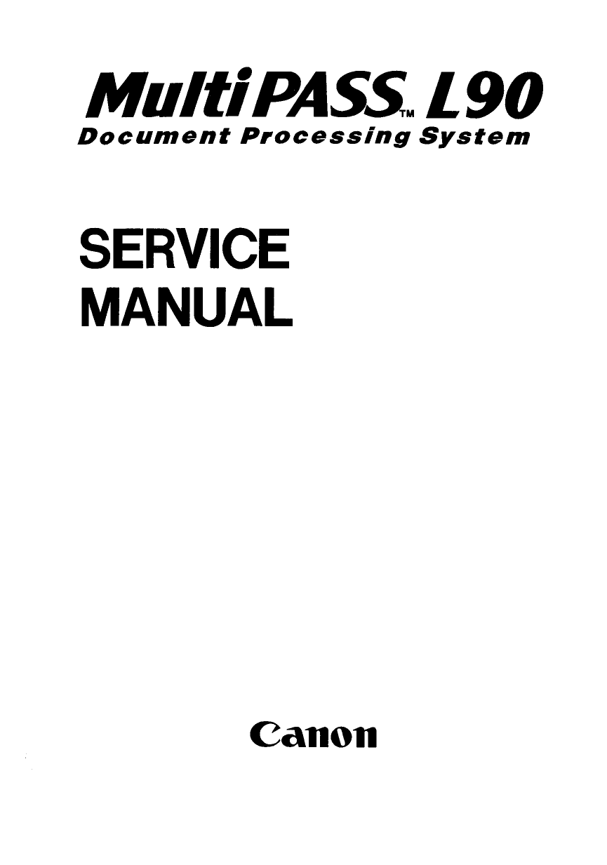 Canon FAX MultiPass-L90 Parts and Service Manual-1